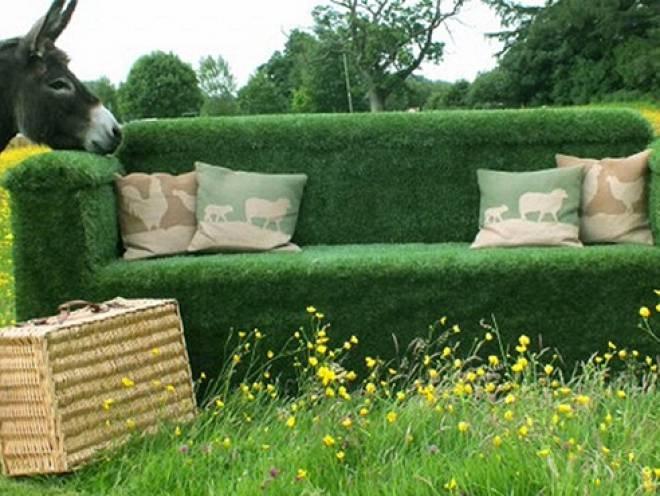 Як зробити зелений диван своїми руками