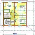 2014 - Дачный дом из клееного бруса - 22