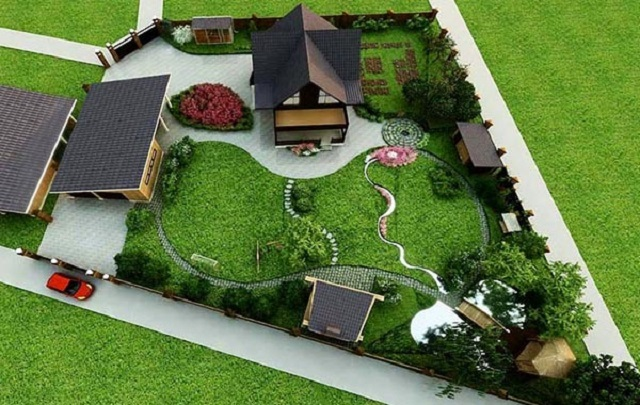 Ландшафтний дизайн дачі 6 соток