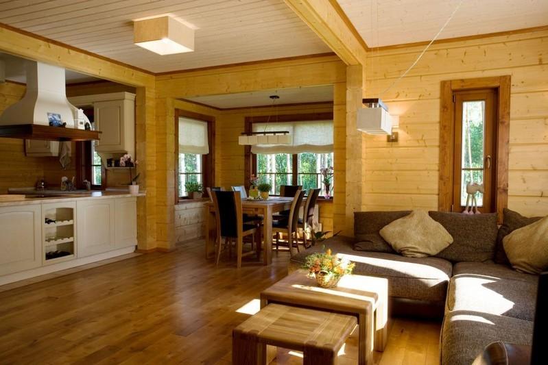 Интерьер деревянных домов из бруса фото