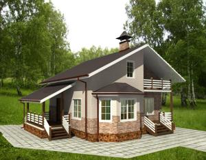 Обробка фасадів будинків з клеєного