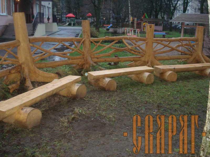 Своими руками деревянную детскую площадку