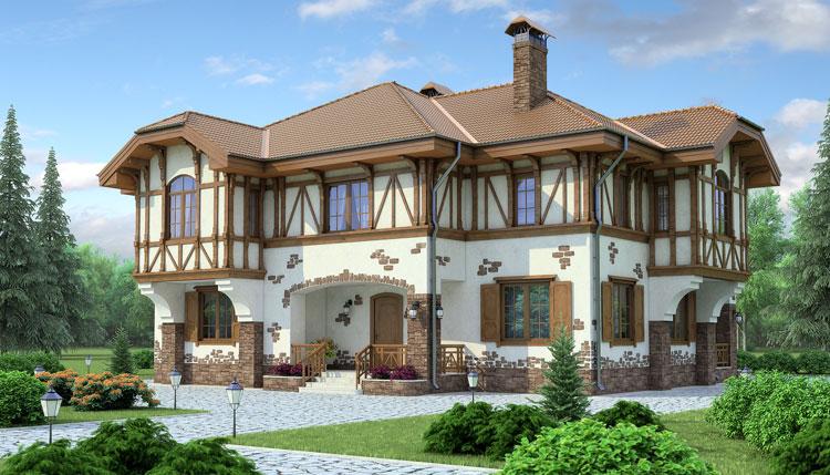 Фасад в стиле фахверк фото