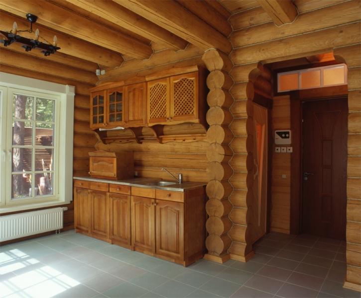 Интерьер бревенчатой бани фото