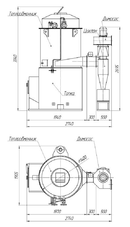 Котлы на опилках чертежи и размеры