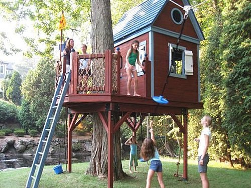 Дом на дереве для ребёнка своими руками