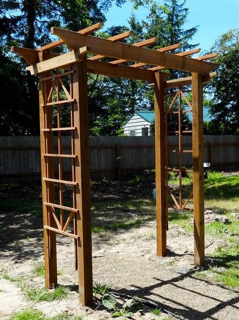 Деревянная арка своими руками для сада