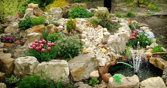 Альпінарій - сад зроблений з каменів