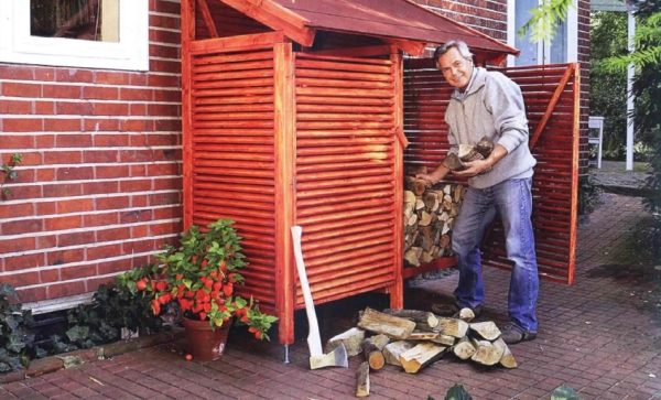 Дровница - строим навес для дров