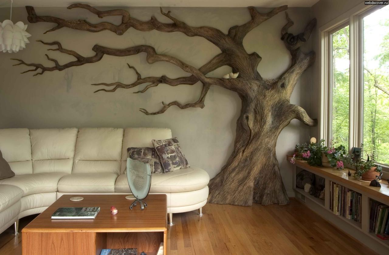 Интерьер из дерева своими руками фото