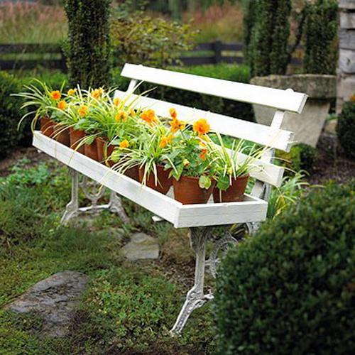 Садові лавки для затишного саду - 70 варіантів