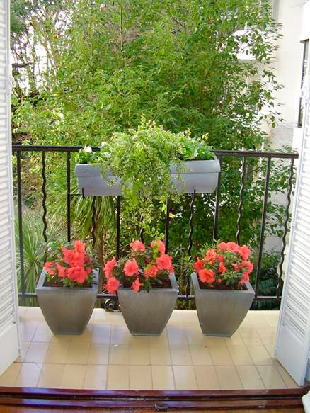 Зеленые балконы.