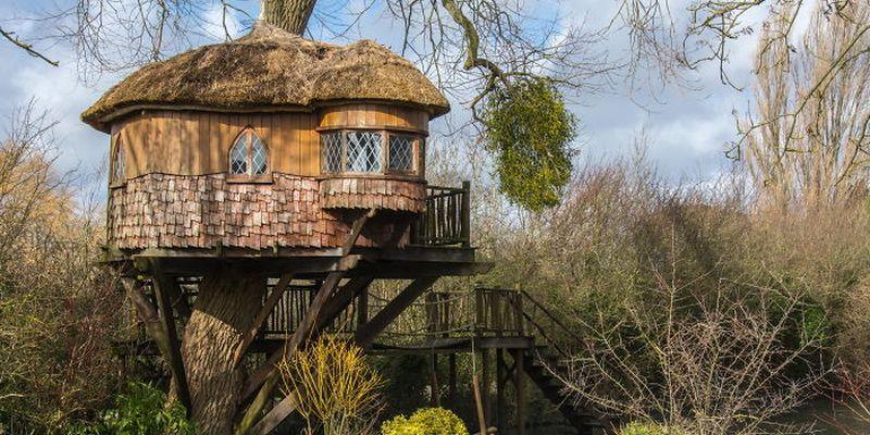 Как сделать красивый дом на дереве в жизни