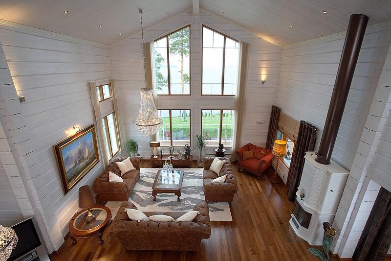Интерьер финского деревянного дома фото