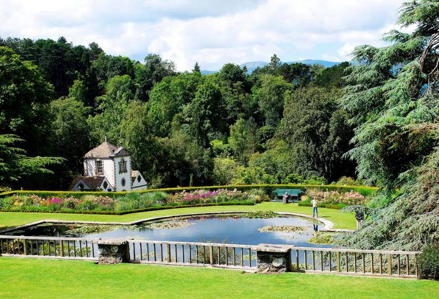 Bodnant gardens north wales uk