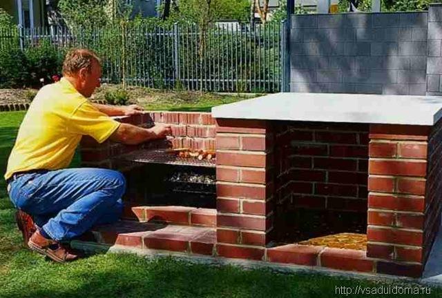 Как построить барбекю на даче своими руками фото