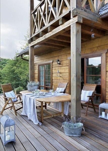 Деревянный загородный дом в польше.