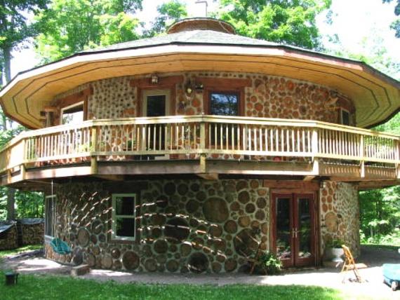 Круглый дом из дерева своими руками