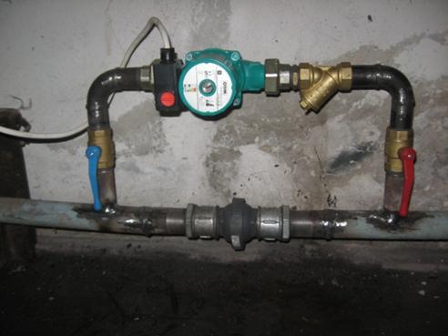 Монтаж насоса в систему отопления своими руками