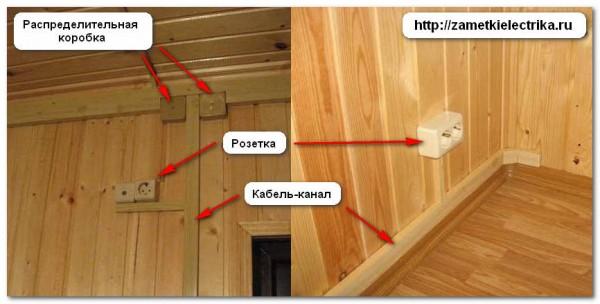Монтаж наружной электропроводки в деревянном доме своими руками 56