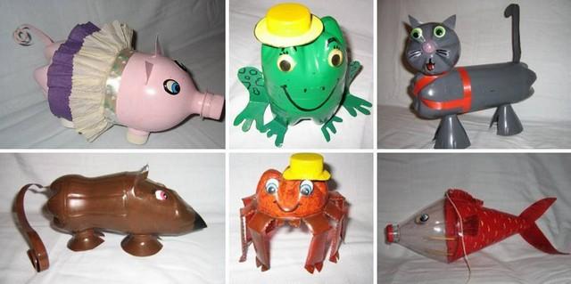 Животные из пластиковых бутылок фото
