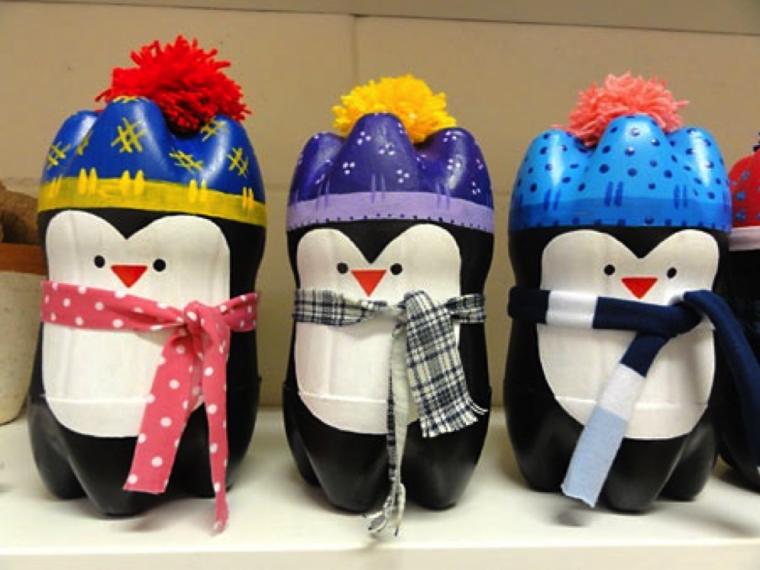 Пингвин из бутылок пластиковых своими руками фото