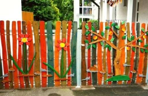 Забор на даче своими руками пошагово фото