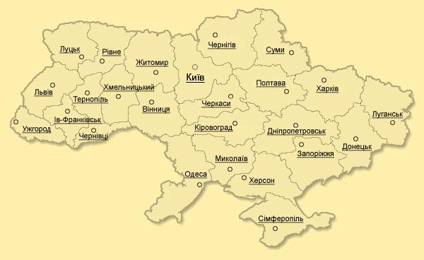 Карта - Дерев'яні будинки України