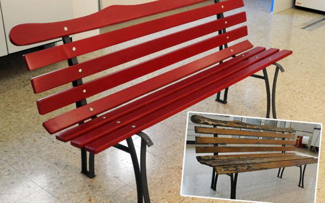 будет представлен как отреставрировать деревянную скамейку работу