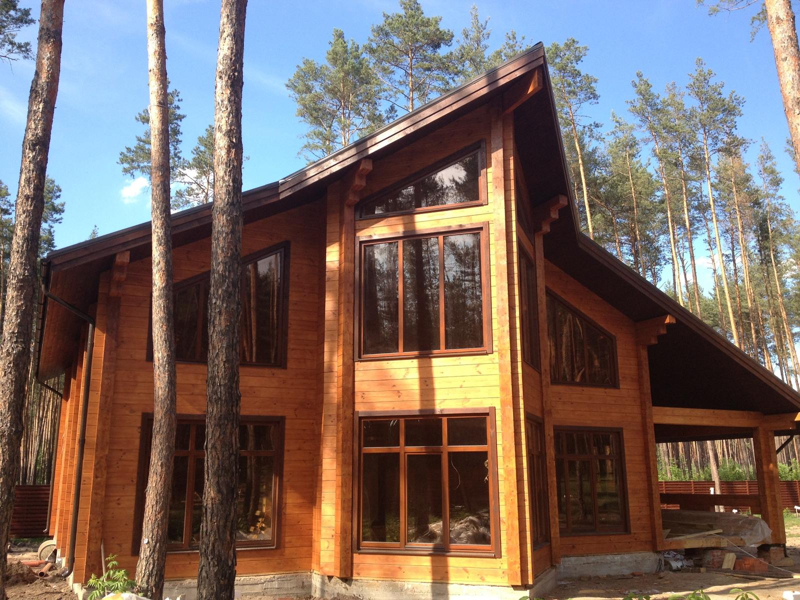 Как сделать современный деревянный дом из клееного 61