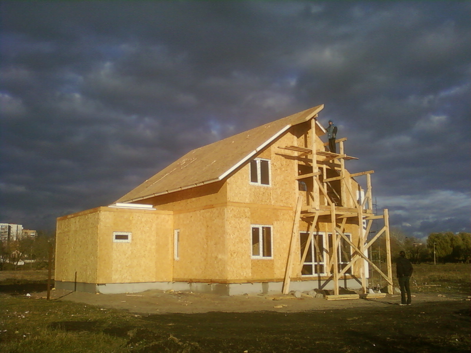 Фото домов построенных своими руками
