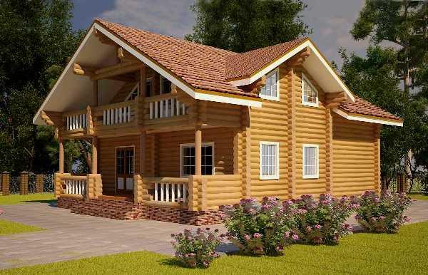 Проект будинку з колоди