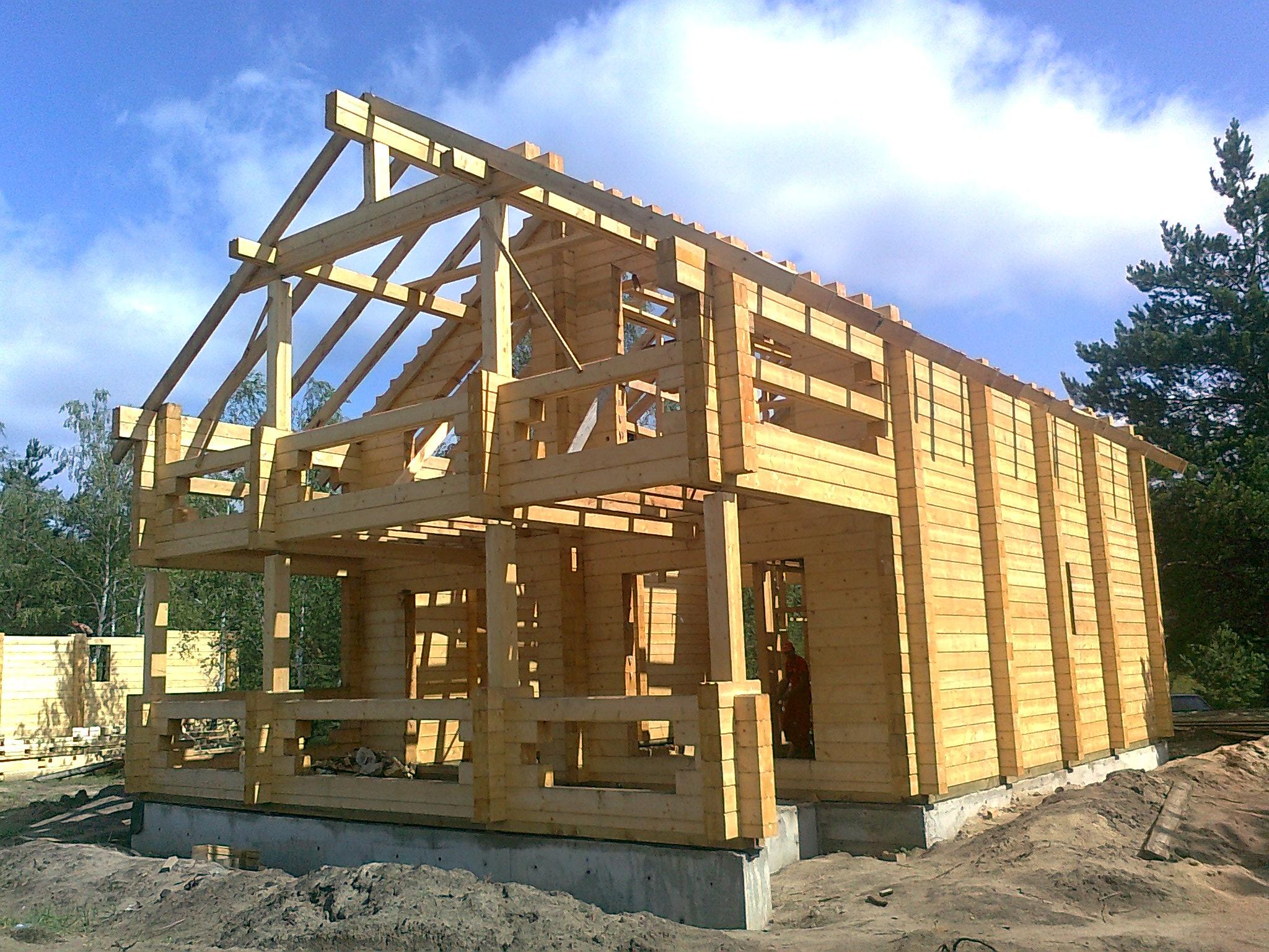 Строительство дома из клееного бруса своими руками 38
