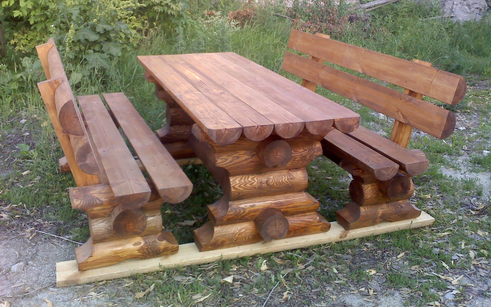 Садовая стол из дерева своими руками 3
