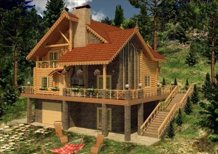 Дерев яні будинки котеджи дачі сауни